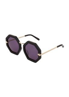 Karen Walker Moon Disco Octagonal Acetate/Metal Sunglasses