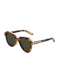 Karen Walker One Astronaut Geometric Tortoiseshell Acetate/Metal Sunglasses