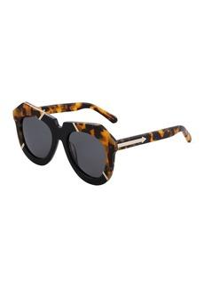 Karen Walker One Splash Acetate Round Havana Sunglasses