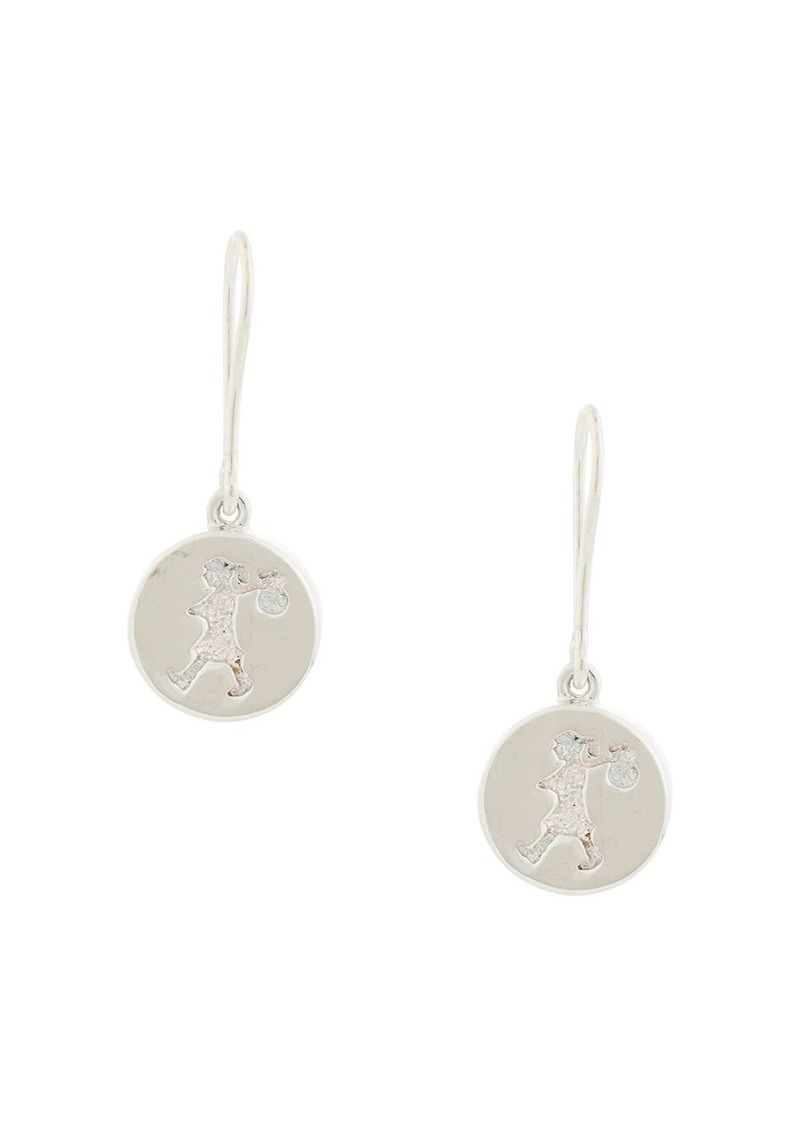 Karen Walker Runaway Stamp earrings