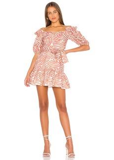 Karina Grimaldi Martha Linen Print Mini Dress