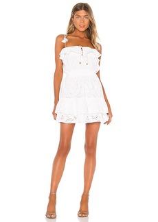 Karina Grimaldi Paloma Eyelet Mini Dress