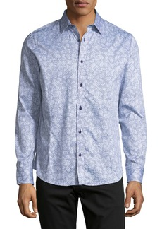 Karl Lagerfeld Abstract-Floral Sport Shirt