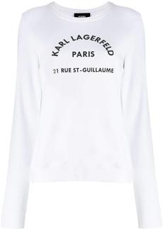 Karl Lagerfeld Address Logo sweatshirt