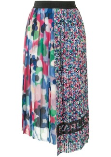 Karl Lagerfeld asymmetric pleated skirt