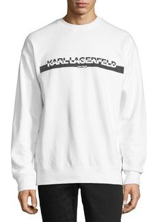 Karl Lagerfeld Block Logo Graphic Sweatshirt