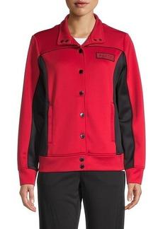 Karl Lagerfeld Colorblock Funnelneck Jacket