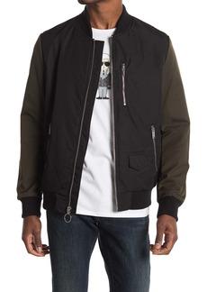 Karl Lagerfeld Contrast Bomber Jacket