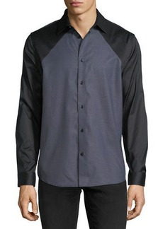 Karl Lagerfeld Contrast-Front Woven Shirt