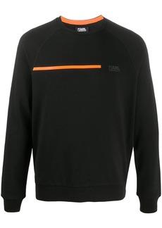 Karl Lagerfeld contrasting stripe rib-trimmed sweatshirt