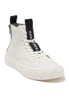 Karl Lagerfeld Double Back Zip High Top Sneaker