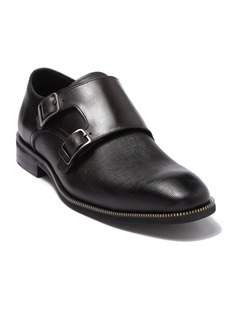 Karl Lagerfeld Double Monk Strap Leather Zipper Teeth Shoe