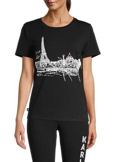 Karl Lagerfeld Eiffel Tower Graphic T-Shirt