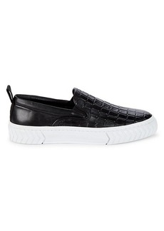 Karl Lagerfeld Embossed Leather Loafers