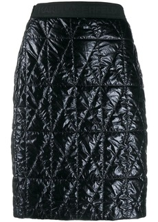 Karl Lagerfeld fitted quilted skirt