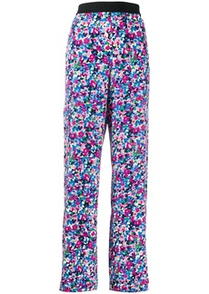 Karl Lagerfeld floral print silk trousers