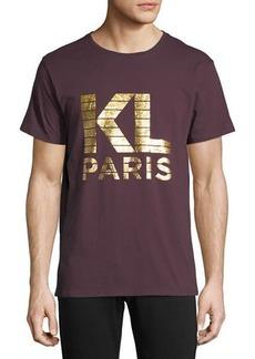 Karl Lagerfeld Foil-Print Short-Sleeve Tee