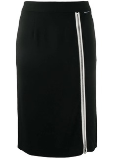 Karl Lagerfeld front zip-detail skirt