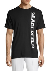 Karl Lagerfeld Graphic Logo Cotton-Blend Tee