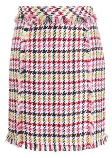 Karl Lagerfeld houndstooth boucle skirt