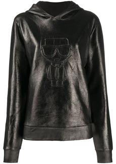 Karl Lagerfeld Ikonik Karl Coated hoodie