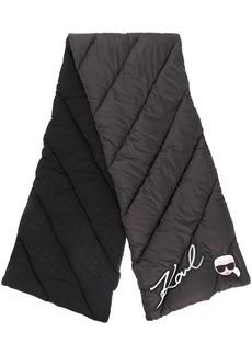 Karl Lagerfeld Ikonik logo padded scarf