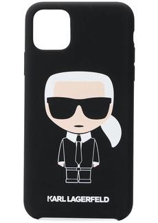 Karl Lagerfeld Karl caricature printed iPhone 11 Pro Max phone case