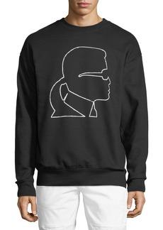 Karl Lagerfeld Karl-Head Print Sweatshirt