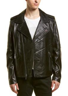 Karl Lagerfeld Asymmetrical Leather Jacket