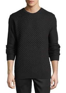Karl Lagerfeld Paris Cable Knit Sweater w/Side Zips
