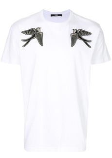 Karl Lagerfeld Captain Karl bird patch T-shirt - White