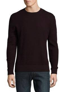 Karl Lagerfeld Paris Cotton Textured Sweater