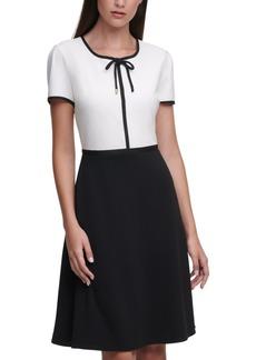 Karl Lagerfeld Crepe Two-Tone Dress