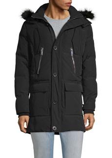Karl Lagerfeld Faux Fur-Trimmed Hooded Down Jacket
