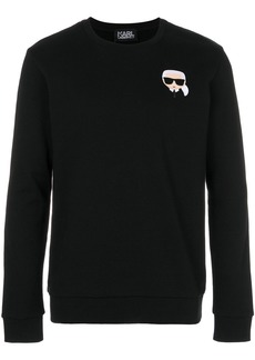 Karl Lagerfeld Ikonik Karl patch sweatshirt - Black