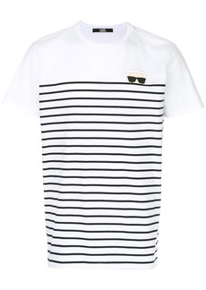 Karl Lagerfeld Karl Ikonik striped T-shirt - White