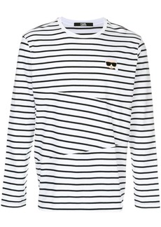 Karl Lagerfeld Karl striped sweatshirt - White