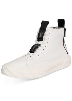 Karl Lagerfeld Men's Double Back Zip High-Top Sneakers Men's Shoes