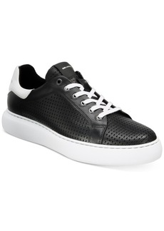 Karl Lagerfeld Men's Perforated Leather Sneakers Men's Shoes