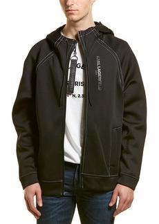 Karl Lagerfeld Neoprene Pipe Hooded Jacket