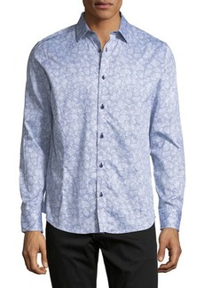 Karl Lagerfeld Paris Abstract-Floral Sport Shirt