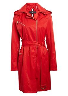 Karl Lagerfeld Paris Asymmetrical Front Zip Trench Coat
