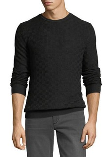 Karl Lagerfeld Paris Basketweave Crewneck Sweater