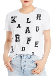 KARL LAGERFELD PARIS Blocked Letter Graphic Tee