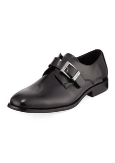 Karl Lagerfeld Paris Buckle Leather Dress Shoe