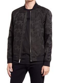 Karl Lagerfeld Paris Camo Jacquard Bomber Jacket
