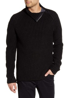 Karl Lagerfeld Paris Chunky Zip Turtleneck Sweater