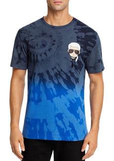 KARL LAGERFELD PARIS Cotton Laser Tie-Dyed Graphic Tee