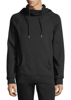 Karl Lagerfeld Paris Cowl-Neck Side-Zip Hoodie