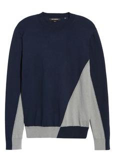 Karl Lagerfeld Paris Diagonal Colorblock Sweater